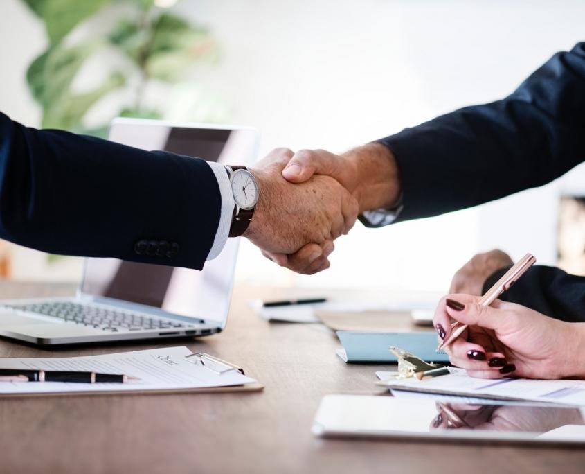 Bild Handshake Businessmänner