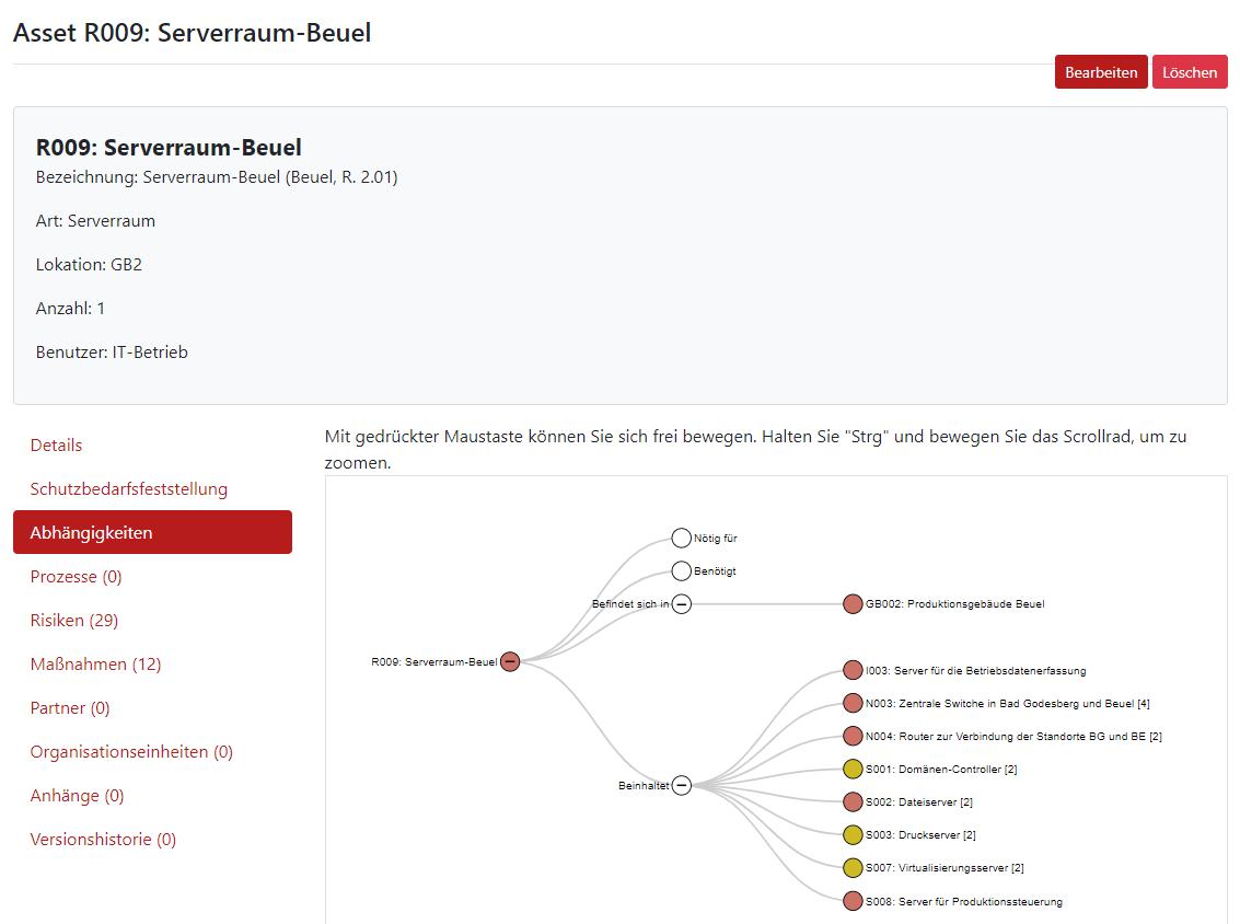 Screenshot Asset Serverraum Beuel