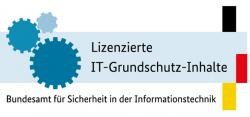 Logo für lizenzierte IT-Grundschutz Inhalte vom BSI.